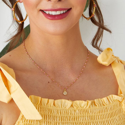 Selina Necklace / Coral