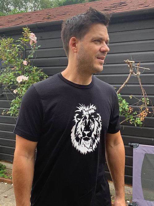 Men's Black Tee, Lion