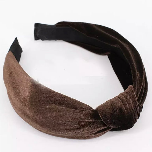 Vivian Knot Headband /  Brown