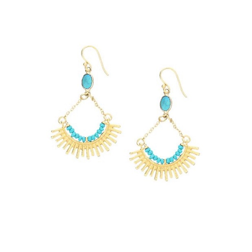 Skylar Earrings, Turquoise