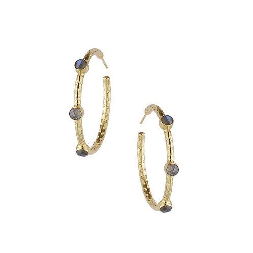 Persia Hoop Earrings, Labrodite