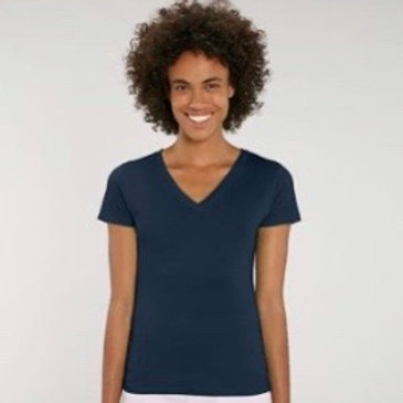 Womens V Neck Tee / Various Colours