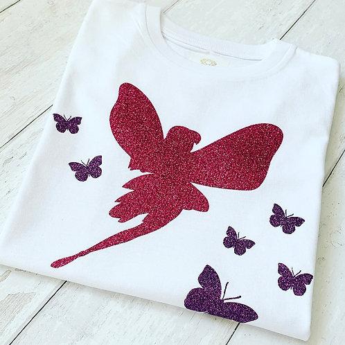 Kids Fairy Tee / Pink & Purple