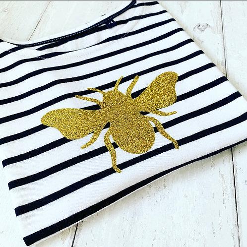 Kids Breton Tee / Gold Bee