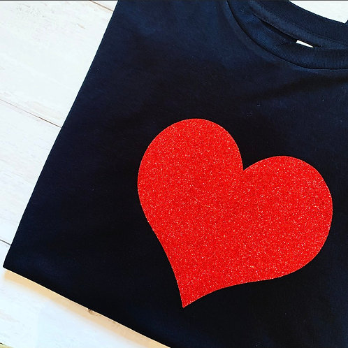 Heart Muscle Tee / Black & Red