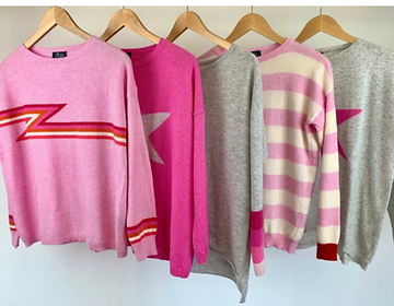 Bright pink jumpers