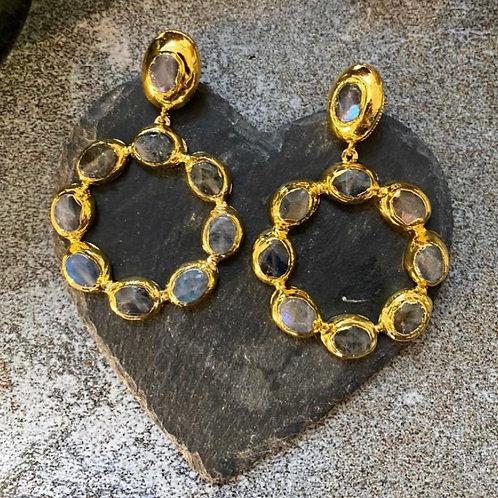 Wanda Hoop Earrings / Labrodite