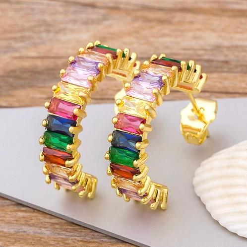 Phoebe Rainbow Hoops