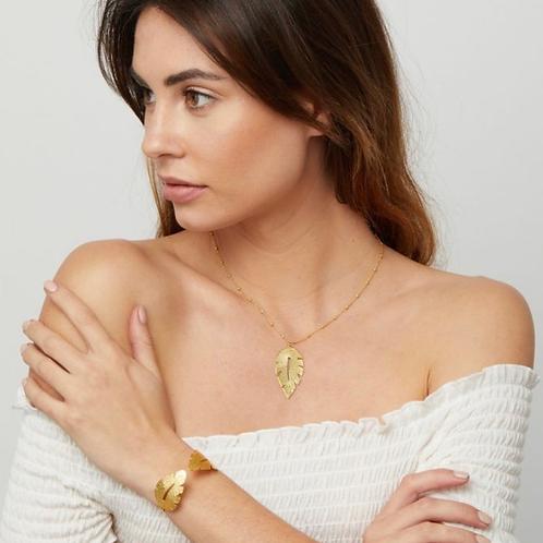Laurel Leaf Necklace, Gold