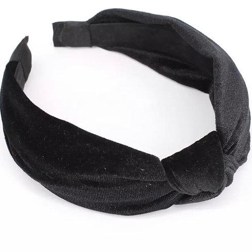 Vivian Knot Headband / Black
