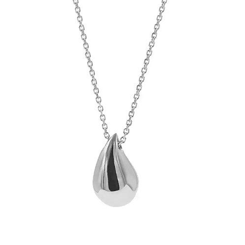 Pebble Necklace, Silver