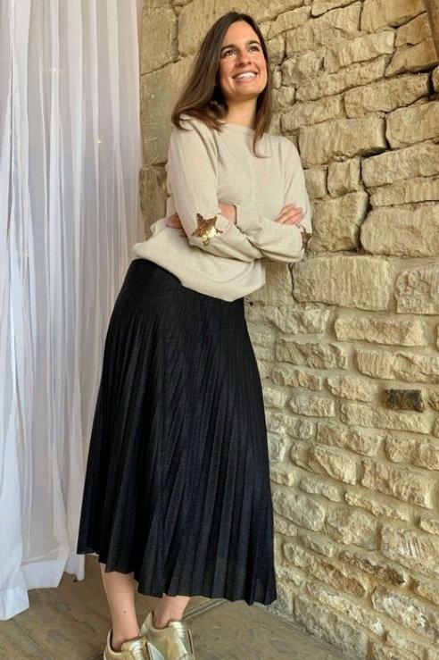 Lurex Skirt / Black Sparkle