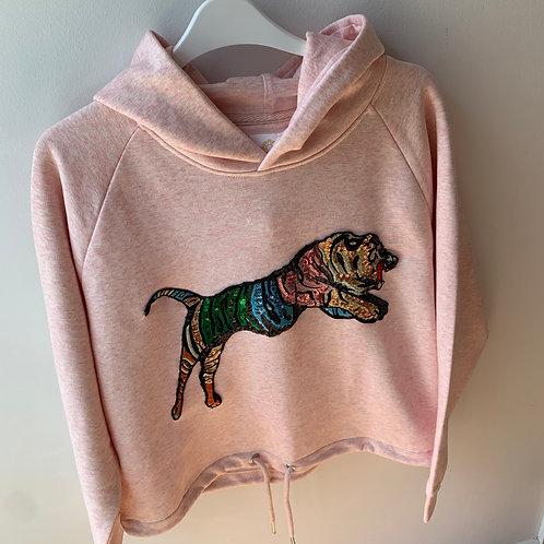 Tiger Hoodie, Pink