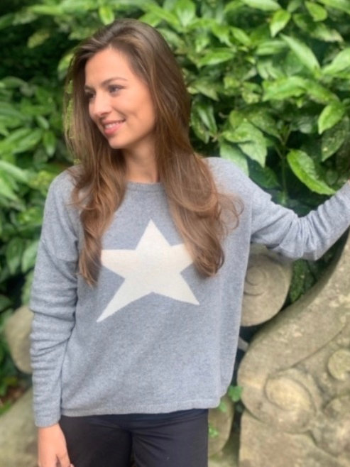 Classic Star Jumper Silver/Ivory