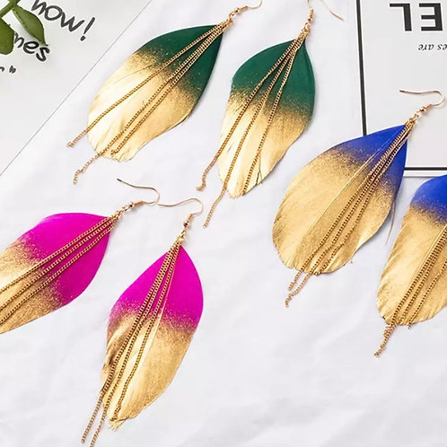 Peacock Feather Earrings / Various