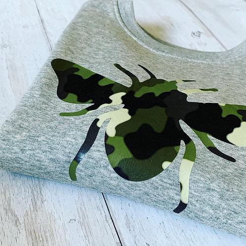 Camo Bee Kids Sweatshirt / Grey