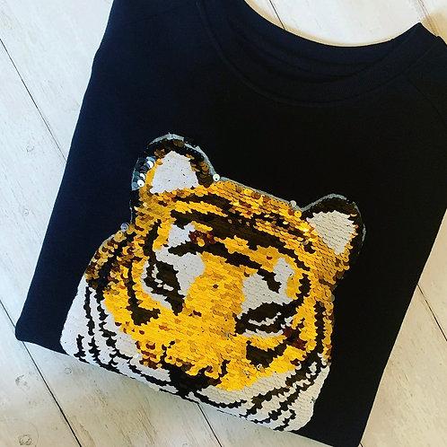 Tigress Sweatshirt, Black