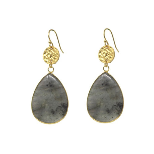 Mimosa Earrings, Labrodite