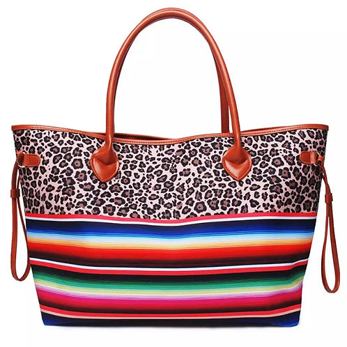 The Arante Summer Tote Bag, Leopard / Stripe