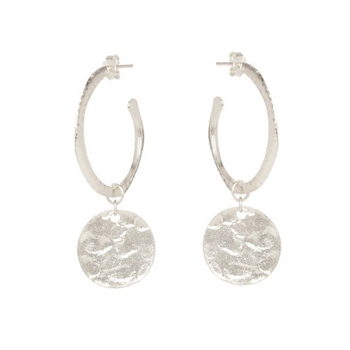 Esmeralda Earrings, Silver