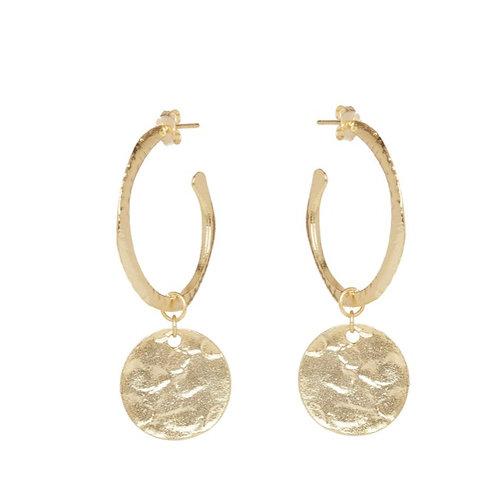Esmeralda Earrings, Gold
