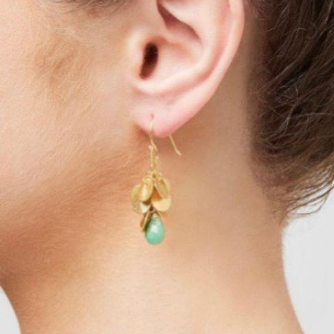 Winona Earrings, Chrysoprase