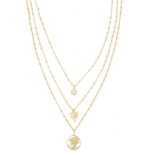 Palma Necklace / White