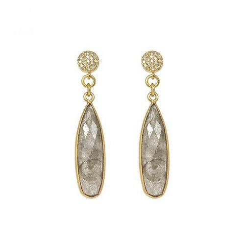 Ocean Dropstone Earrings / Labrodite