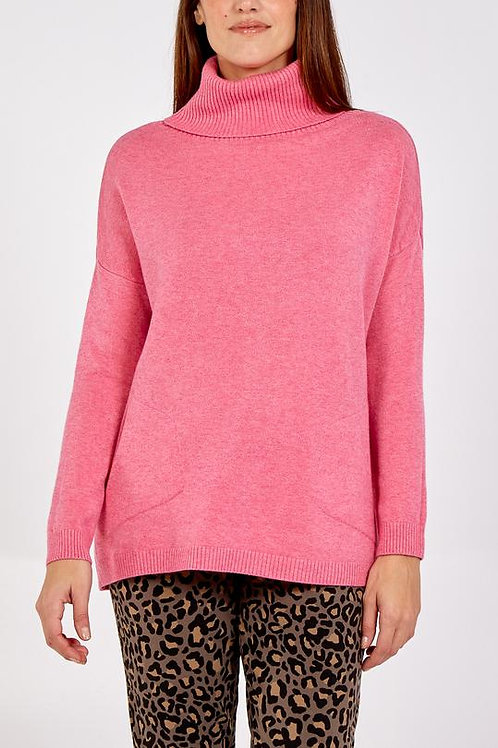 Rollneck Sweater / Pink