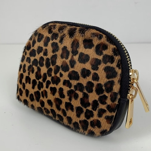 Coin Purse / Small Dark Leopard Print