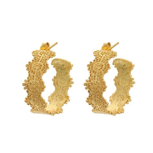 Riley Filigree Hoop Earrings