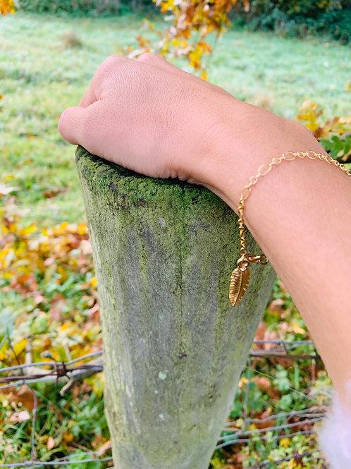 Trixie Gold Bracelet / Leaf