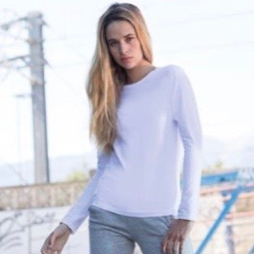 Womens Stretch Long Sleeve Tee / Various Colours