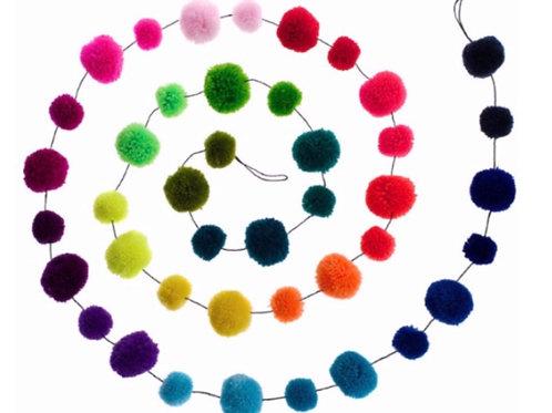 Rainbow Pom Pom Garland