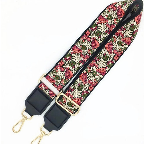 Elizabeth Bag Strap, Red/Orange/Green
