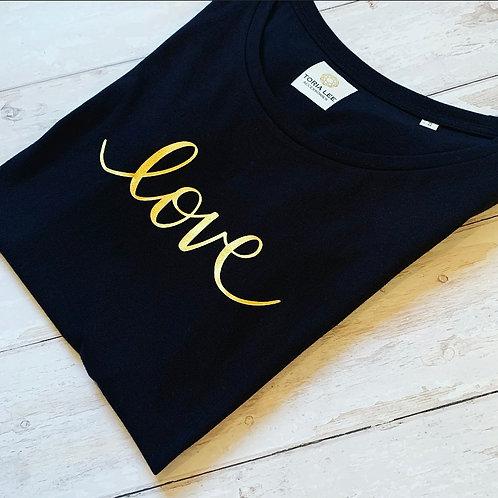 Love Tee / Black Gold