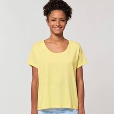 Womens Relxed Fit Scoop Tee / Various Colours