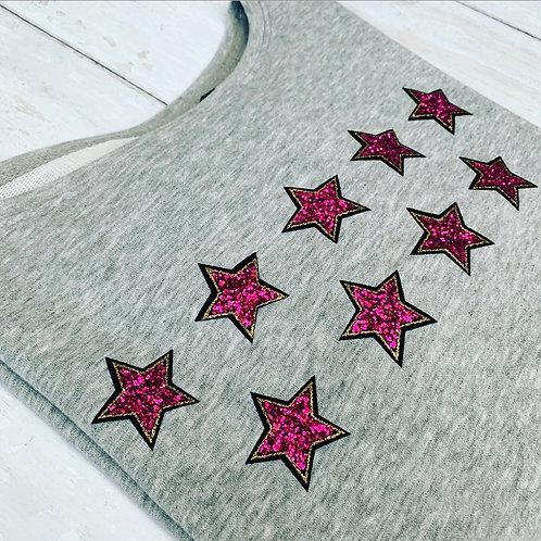 Libby Sweatshirt / Grey & Pink