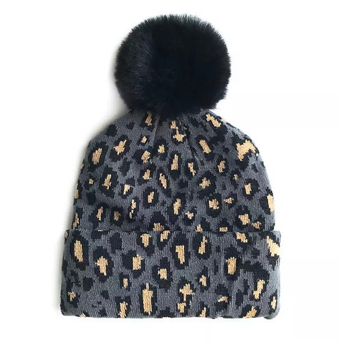 Florry Hat / Grey Leopard