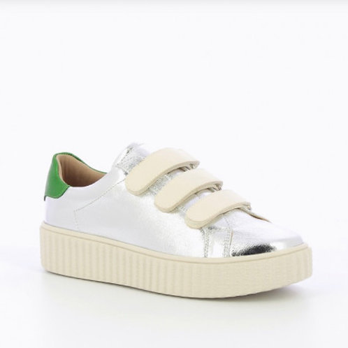 Silver Sneakers / Green