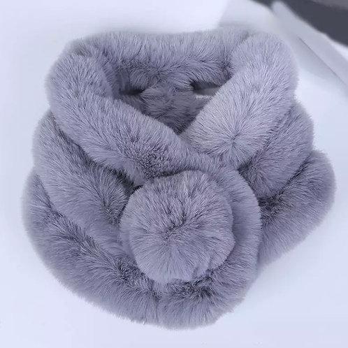 Betsy Faux Fur Neckwarmer / Grey