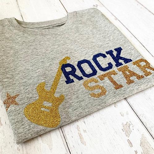 Kids Rock Star Guitar Tee / Grey