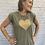 Thumbnail: Heart Muscle Tee / Khaki & Gold