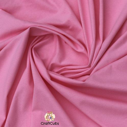 Bubblegum Pink Cotton Lycra 210gsm