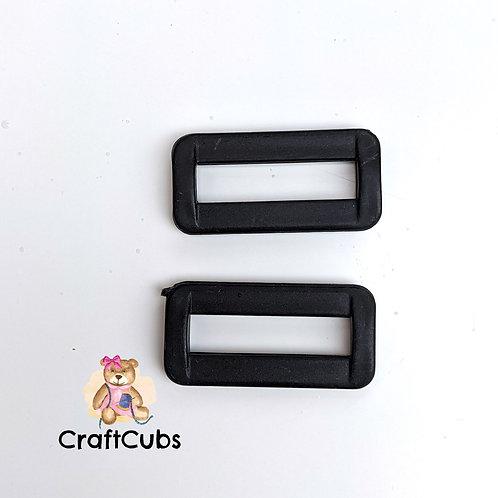 32mm (1 1/4 inch) Plastic Rectangular Rings/Buckles