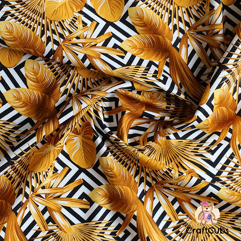 Go for Gold Cotton Poplin Fabric