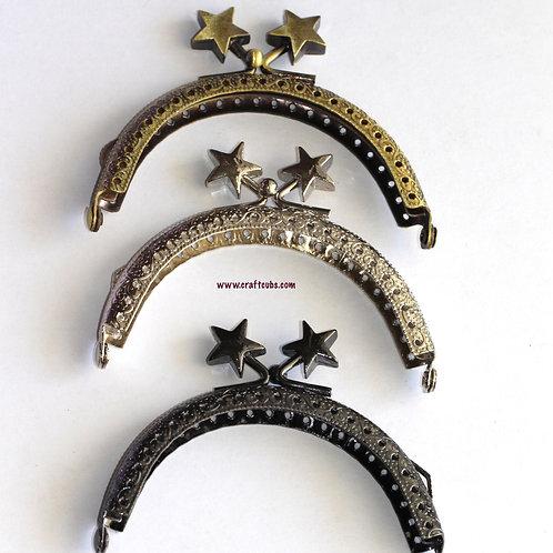 STARR Kisslock Metal Half Round Frame in 8.5cm