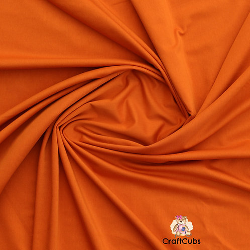 Burnt Orange Cotton Lycra 170gsm