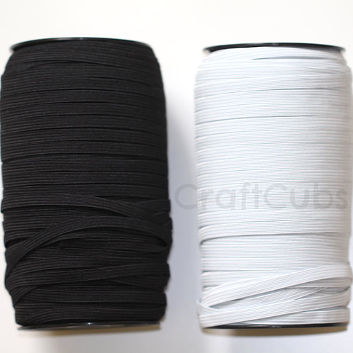 80 yard (73m) 6mm 8 Cord Braided Elastic Roll