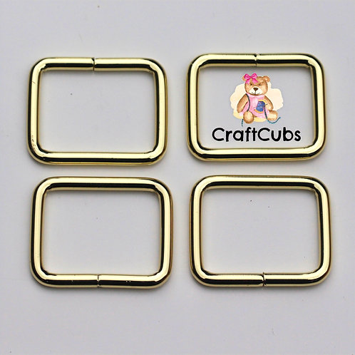 25mm (1 inch) Bag Buckle in Gold